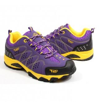 Earthing hiking shoes for women 3512 Yellow Purple