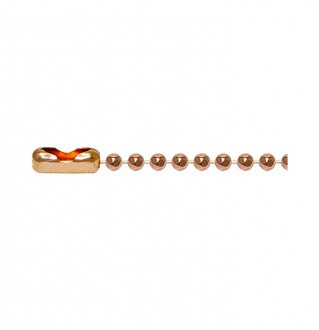 Q-Link Copper Faceted Chain link