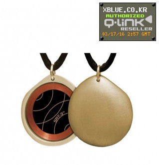 Q-Link Gold Pebble Brushed pendant