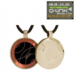 Q-Link Gold Retro Polished pendant