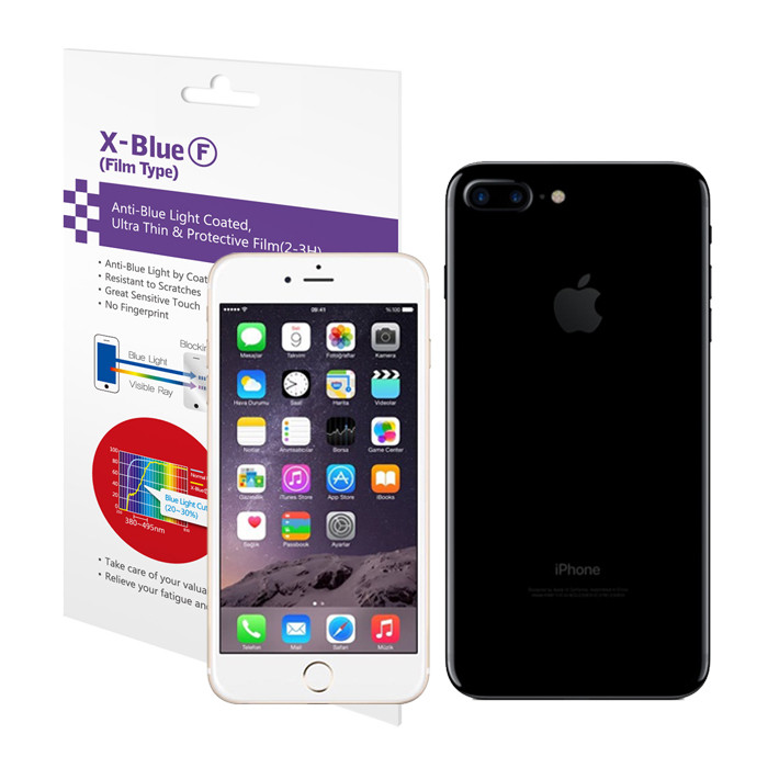 IPhone 7/7 Plus blue light blocking screen protector film