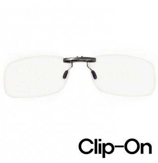 Clip-on PC blue light blocking glasses